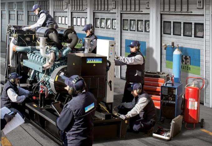 Монтаж генераторов