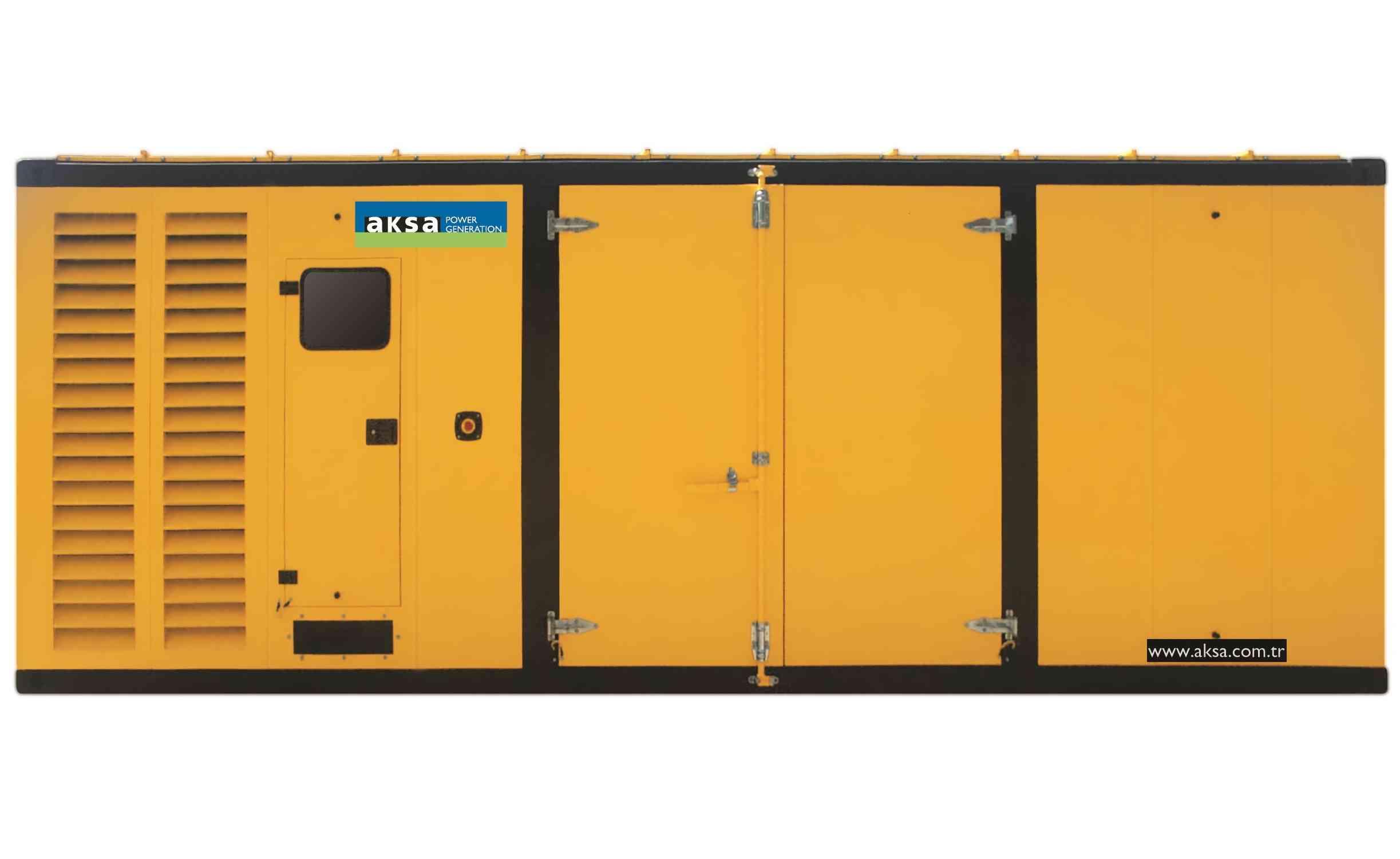 Дизельный генератор Aksa APD1100P в кожухе