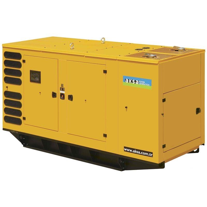 Дизельный генератор Aksa APD440P в кожухе