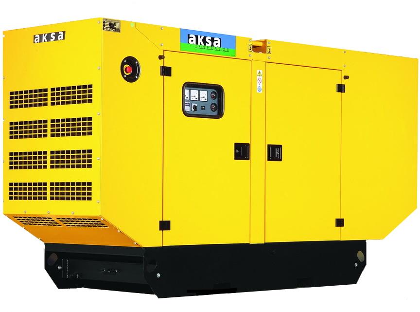 Дизельный генератор Aksa APD110A в кожухе