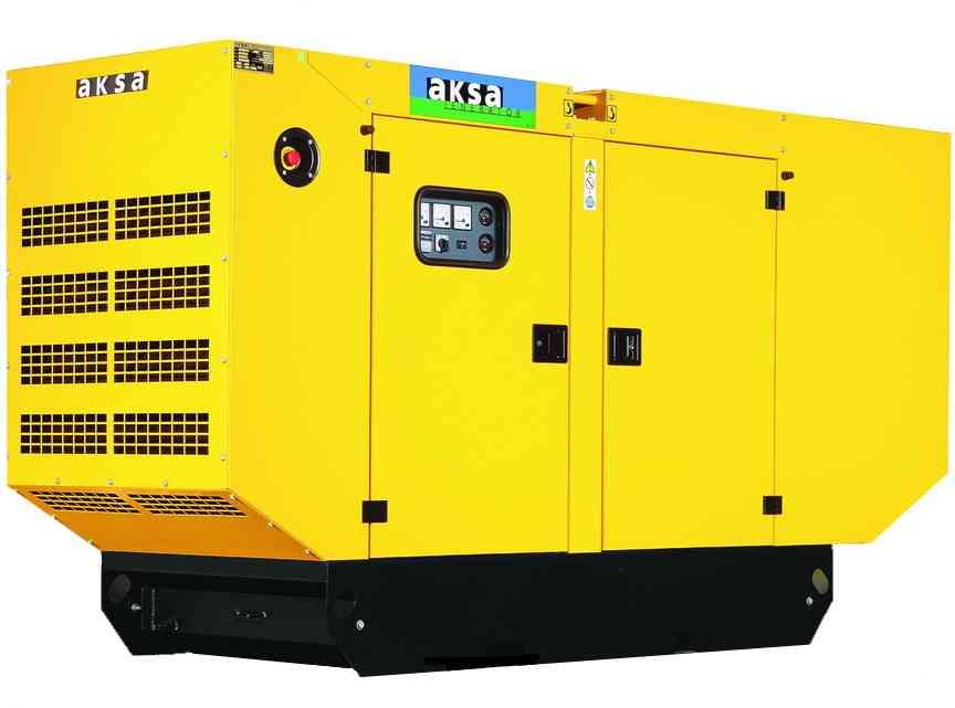 Дизельный генератор Aksa APD90A в кожухе