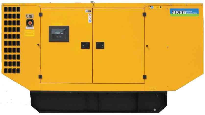 Дизельный генератор Aksa AJD-170 в кожухе