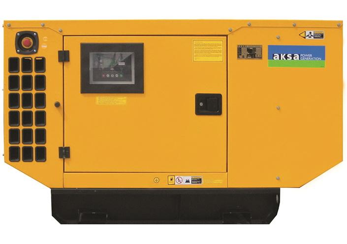Дизельный генератор Aksa APD22P в кожухе