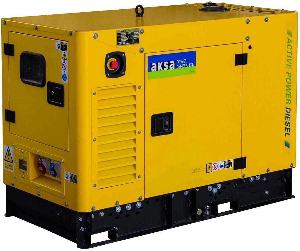 Дизельный генератор Aksa APD13A в кожухе