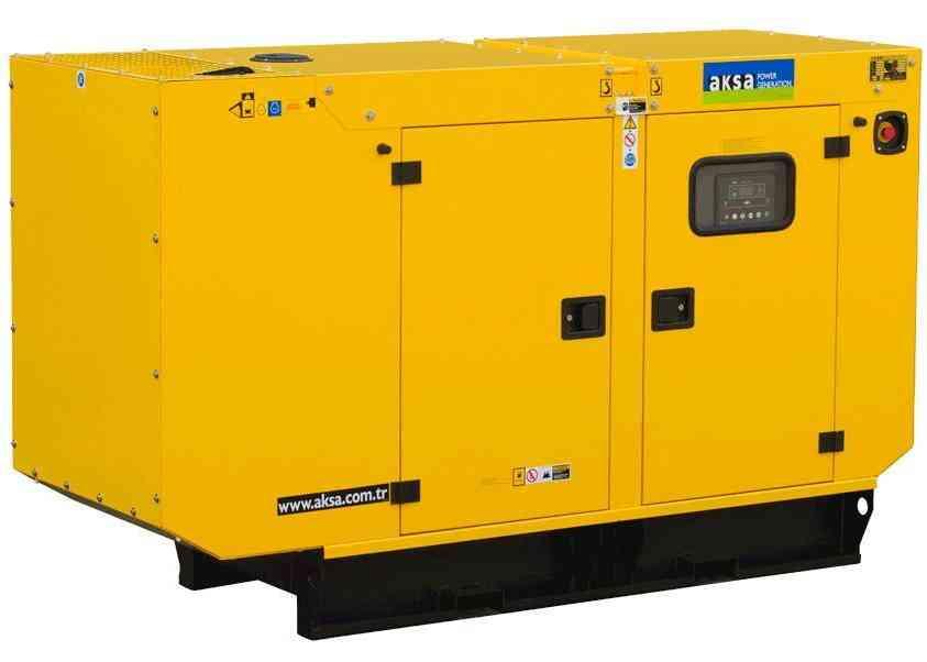 Дизельный генератор Aksa APD43C в кожухе
