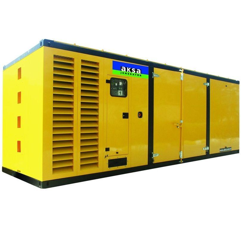 Дизельный генератор Aksa APD1100M в кожухе