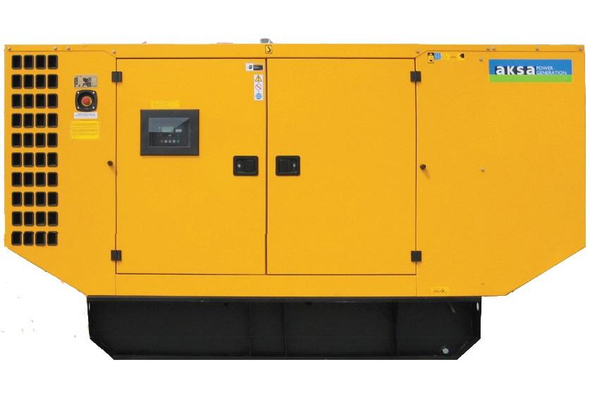 Дизельный генератор Aksa AD-185 в кожухе