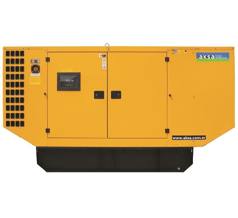 Дизельный генератор Aksa APD88P в кожухе
