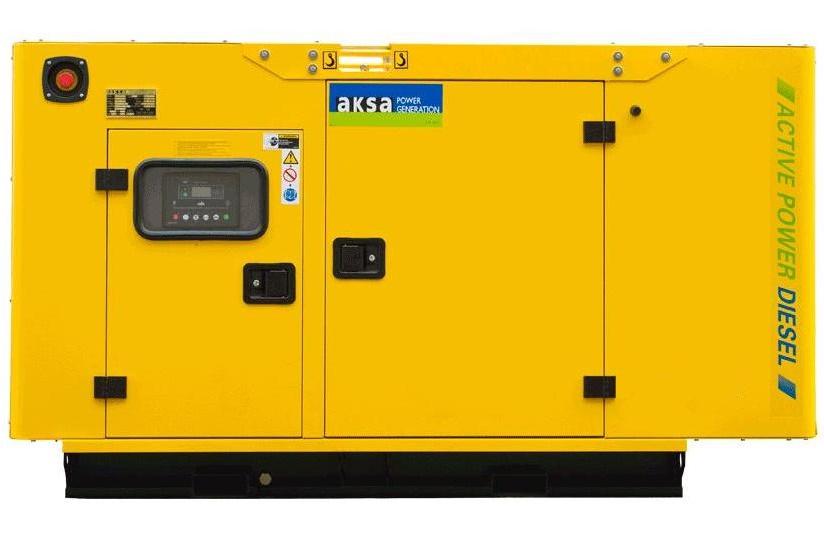 Дизельный генератор Aksa APD35A в кожухе