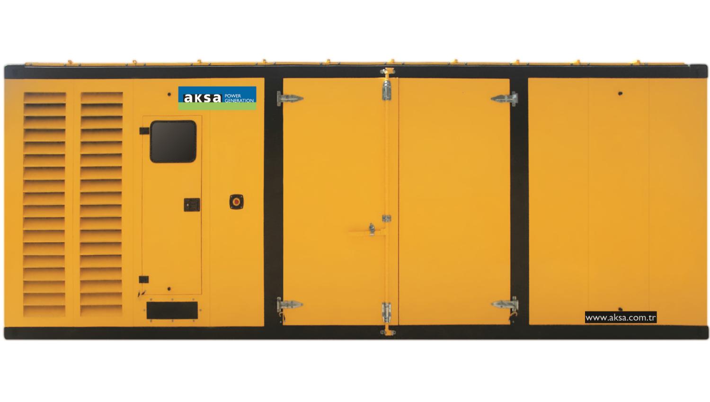 Дизельный генератор Aksa APD1250P в кожухе