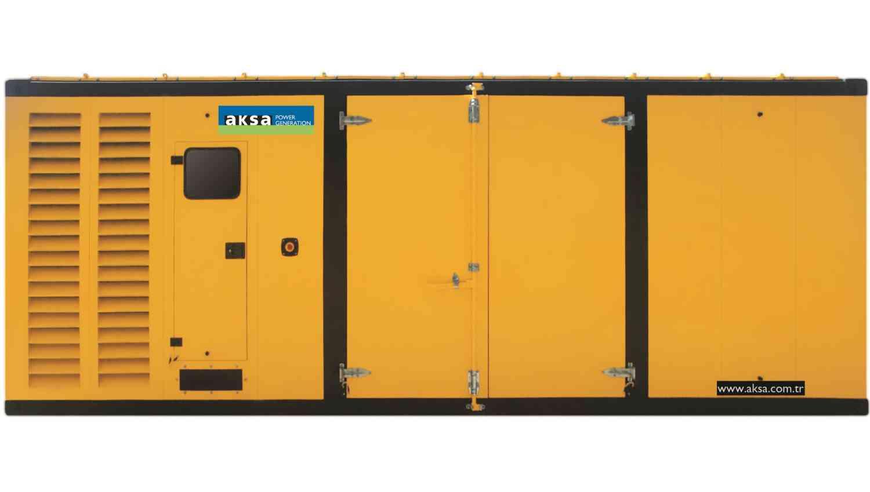 Дизельный генератор Aksa AP 1250 в кожухе