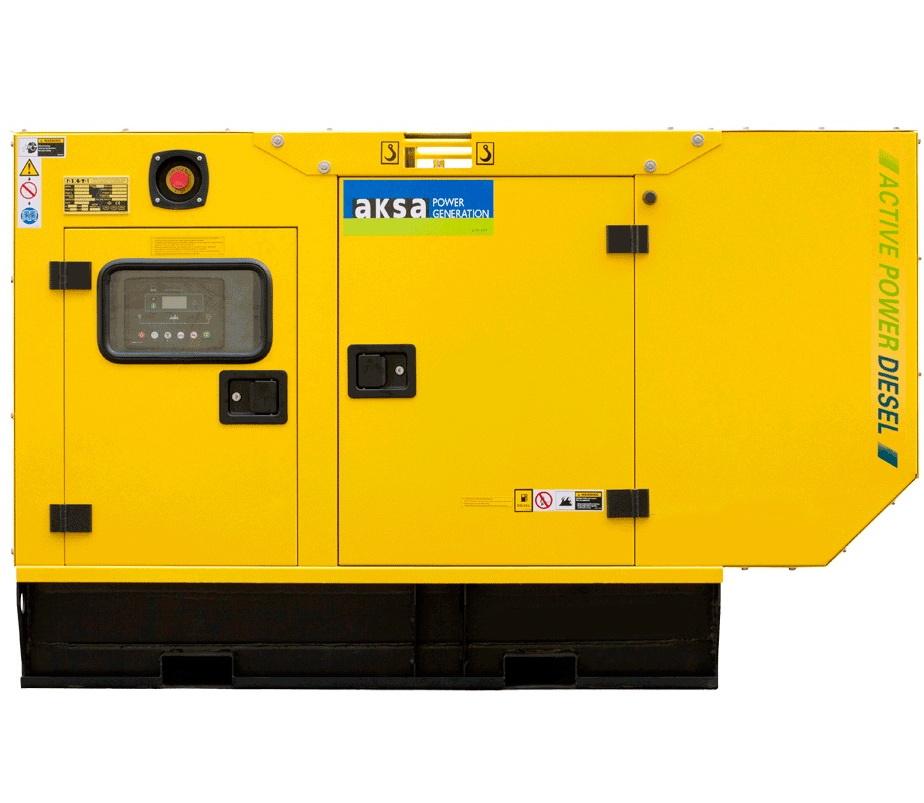 Дизельный генератор Aksa APD10P в кожухе