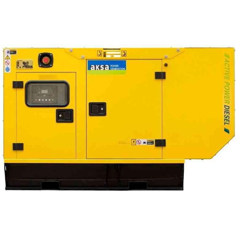 Дизельный генератор Aksa APD25A в кожухе